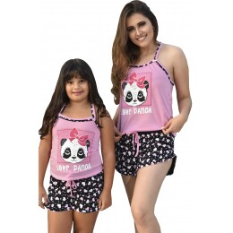 Baby Doll Love Panda de Malha (ADULTO)