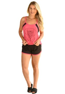Baby Doll Assorted pink prints de Malha (ADULTO)